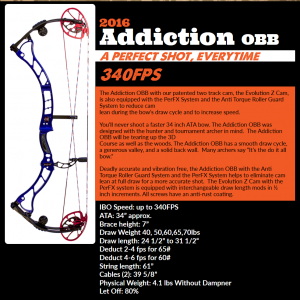 Obsession Bows - 2016 Addictions OBB